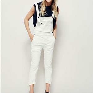 Like New Free People Washed Denim Overalls